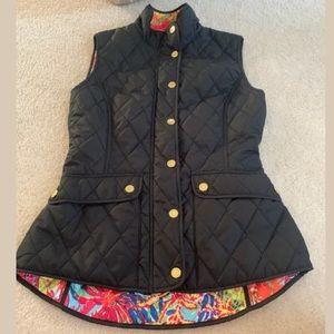Lilly Pulitzer Black Vest Jacket